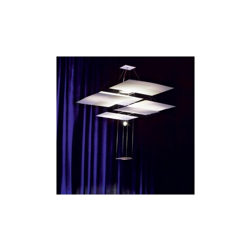 ingo maurer oh mei ma weiss luminaire suspendu carr. Black Bedroom Furniture Sets. Home Design Ideas