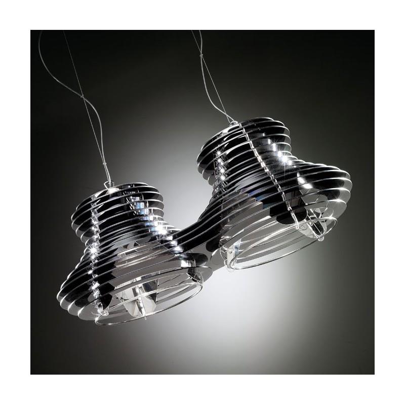 slamp faretto double suspension lumineuse eclairage suspendu luminaire design. Black Bedroom Furniture Sets. Home Design Ideas