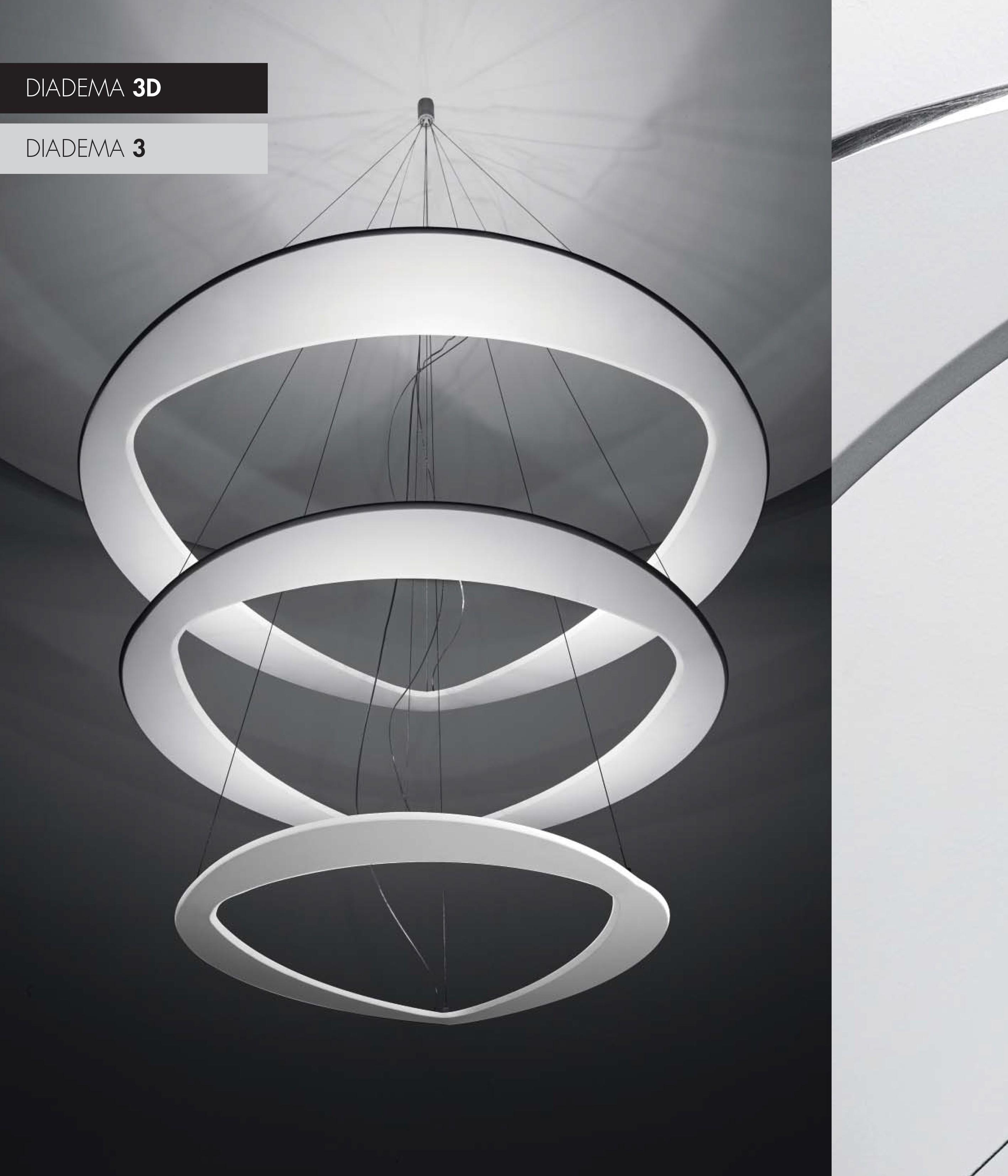 Luce Al Led.Icone Luce Diadema 3 Suspension And Luster Led Design