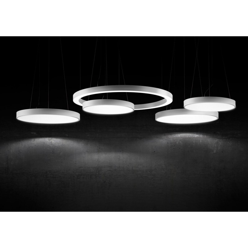 panzeri planet ring disque lumineux led suspension. Black Bedroom Furniture Sets. Home Design Ideas