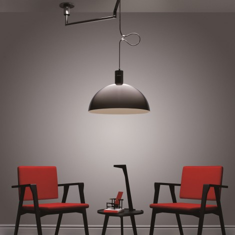 nemo lighting as41c et as1z suspension coupole bras d port. Black Bedroom Furniture Sets. Home Design Ideas