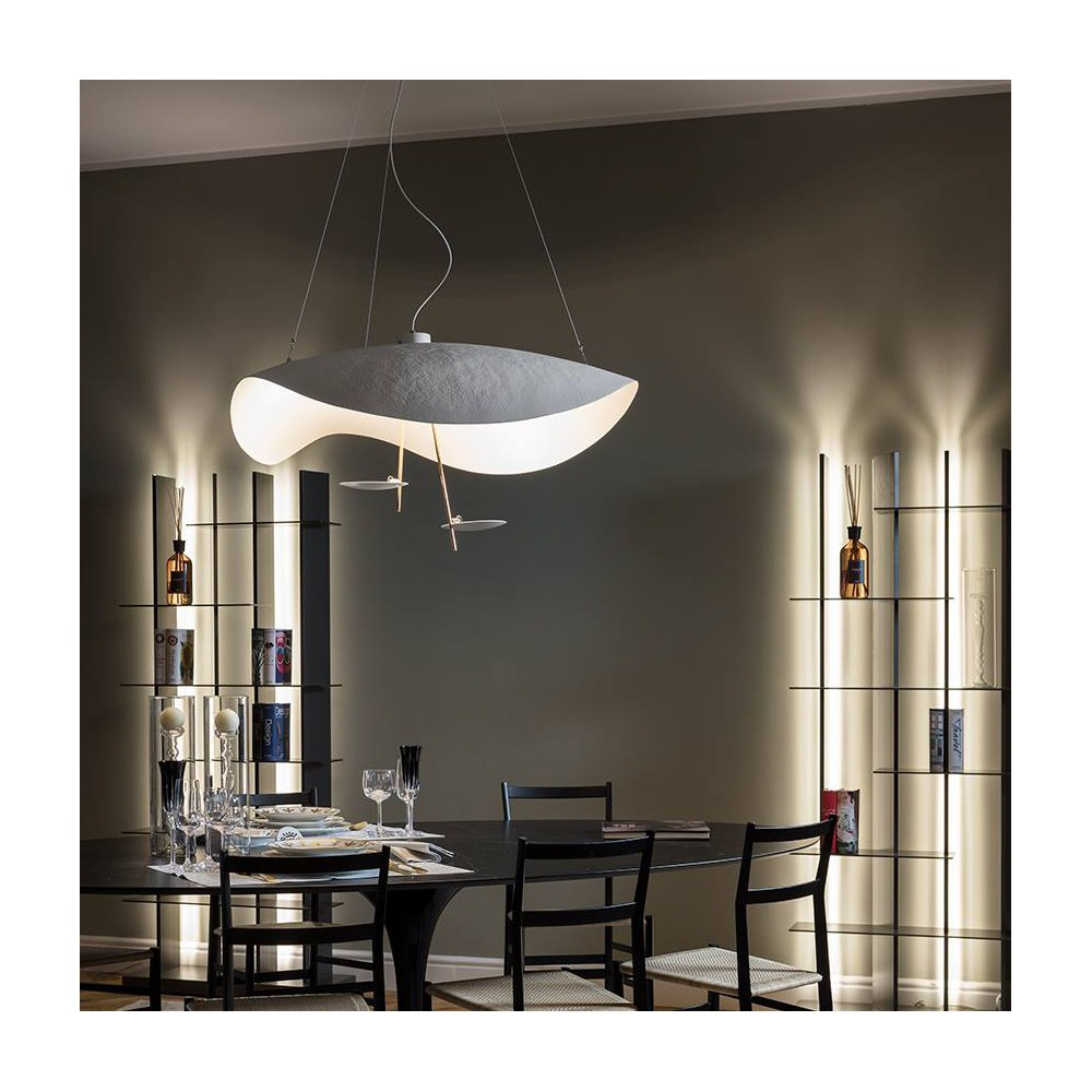 catellani smith lederam manta s2 hanglamp koepel design in led. Black Bedroom Furniture Sets. Home Design Ideas