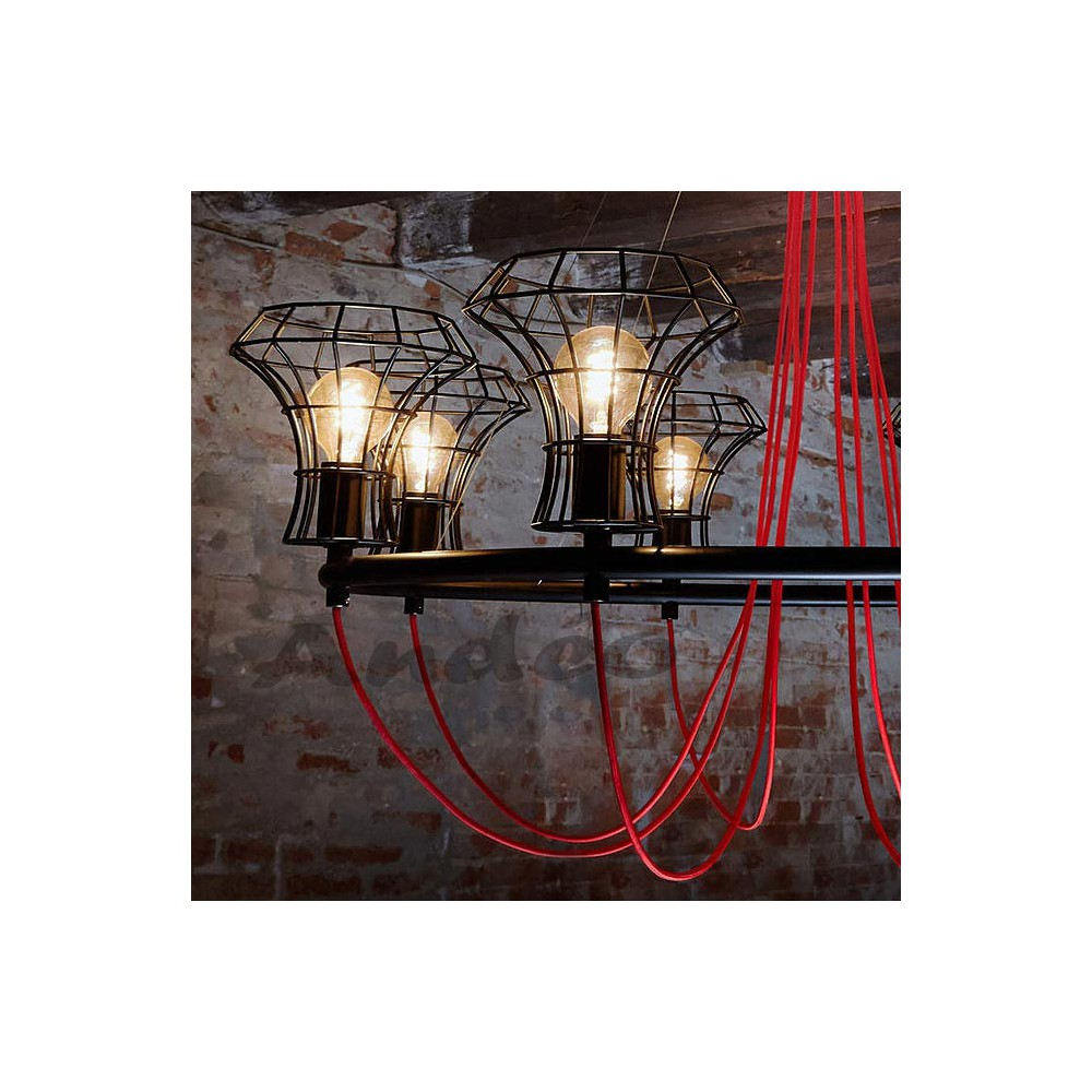 Zava queen cage lustre design et suspension moderne zavaluce for Suspension luminaire cage