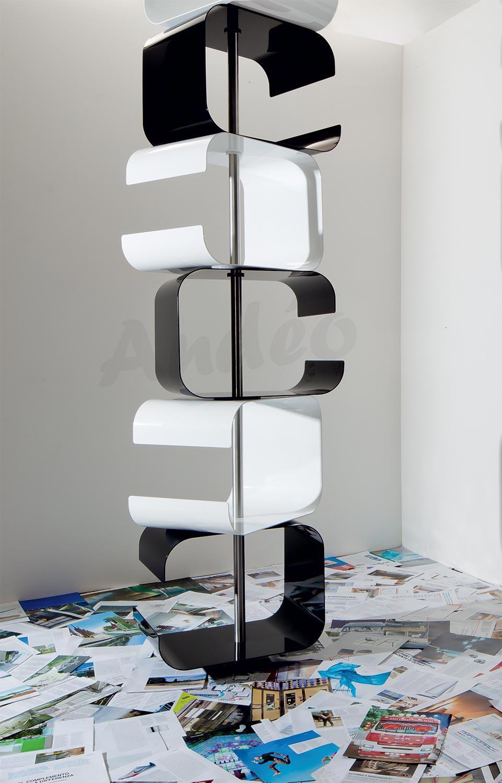 Zava Tico Shelf Design And Bookcase Metal Rotating Zavaluce