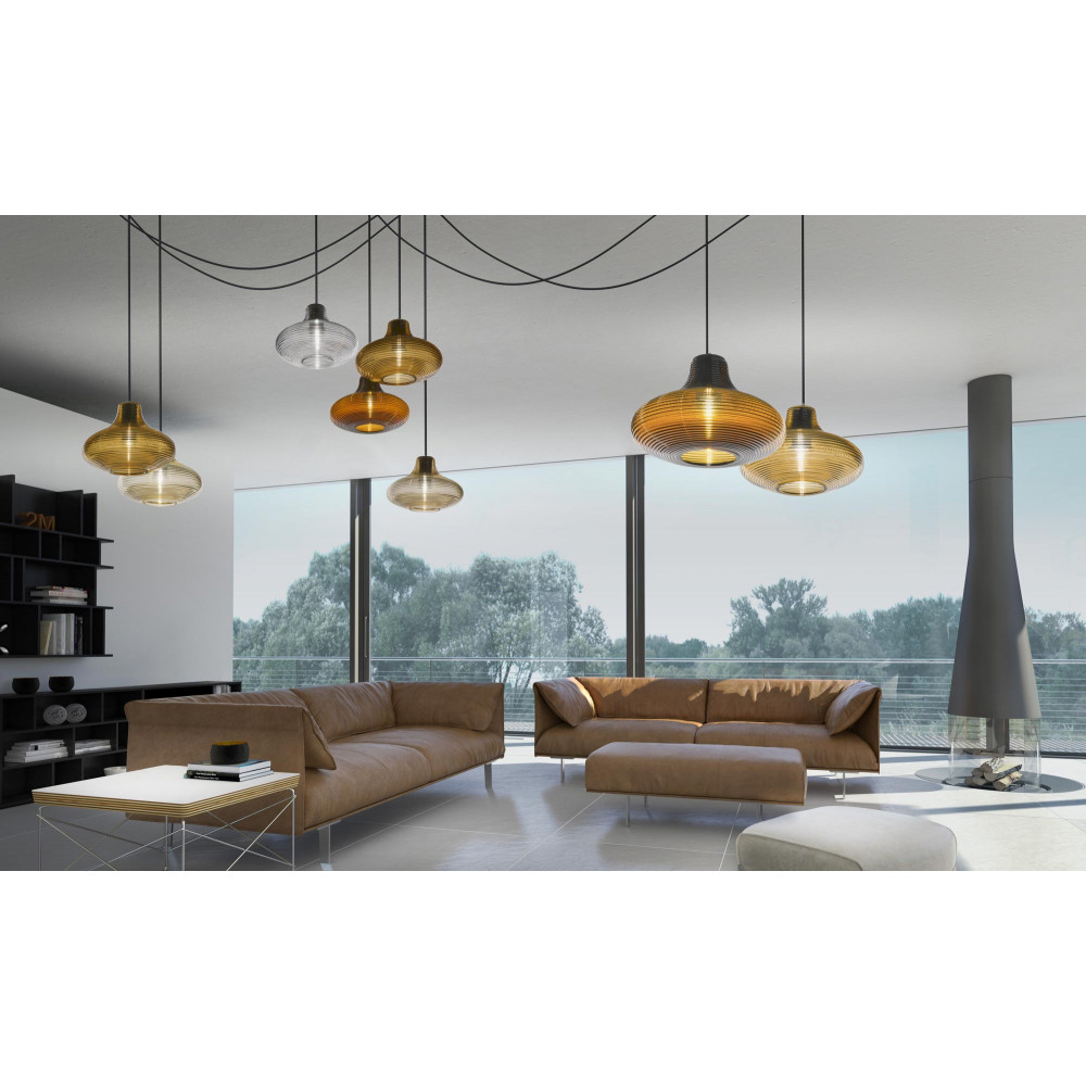 panzeri emma suspension en verre souffl style r tro. Black Bedroom Furniture Sets. Home Design Ideas