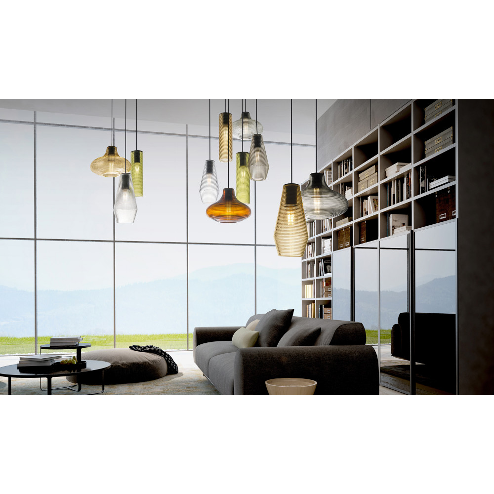 panzeri olivia luminaire en verre souffl suspendu led. Black Bedroom Furniture Sets. Home Design Ideas