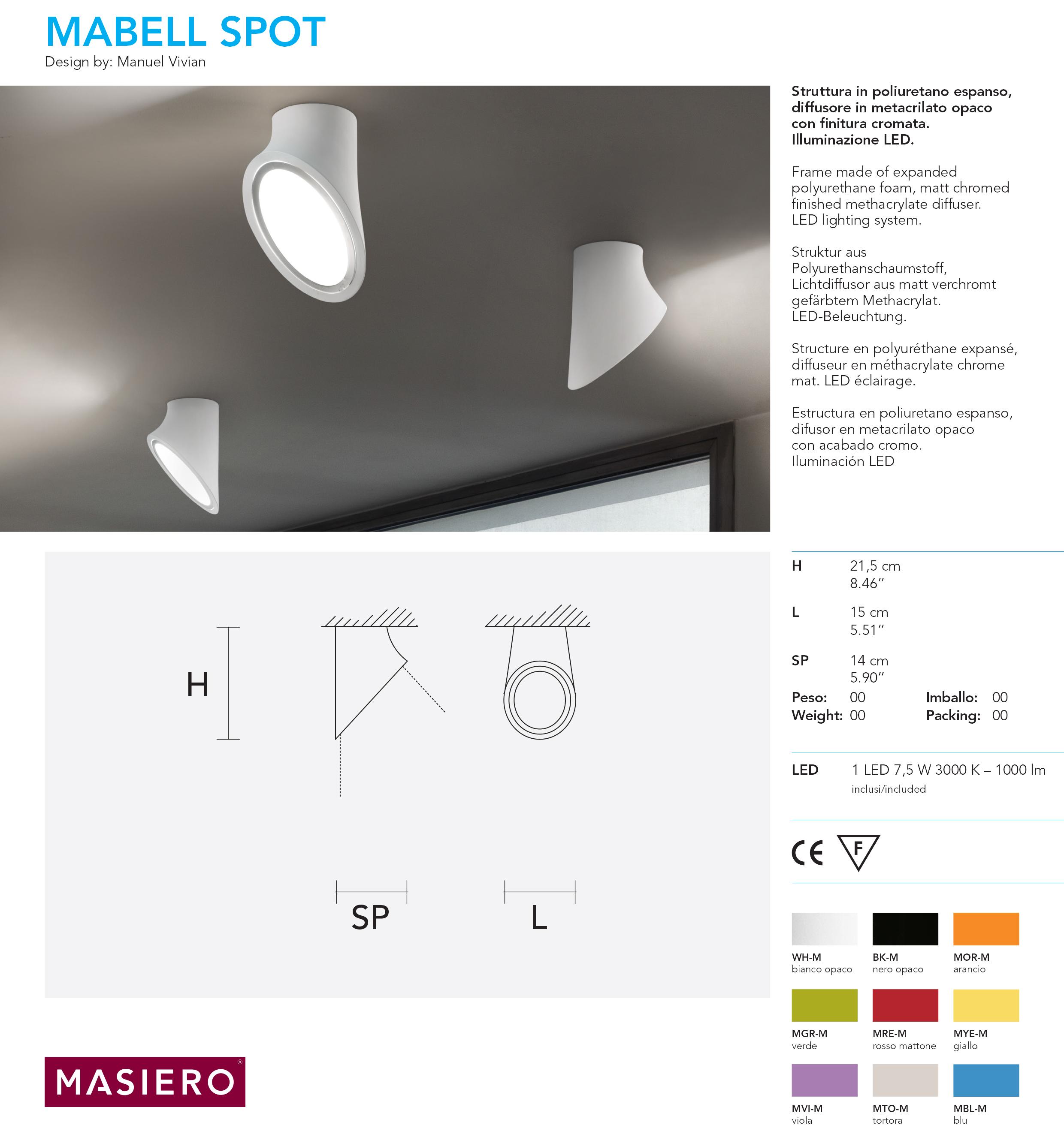 Masiero Mabell Spot Tech