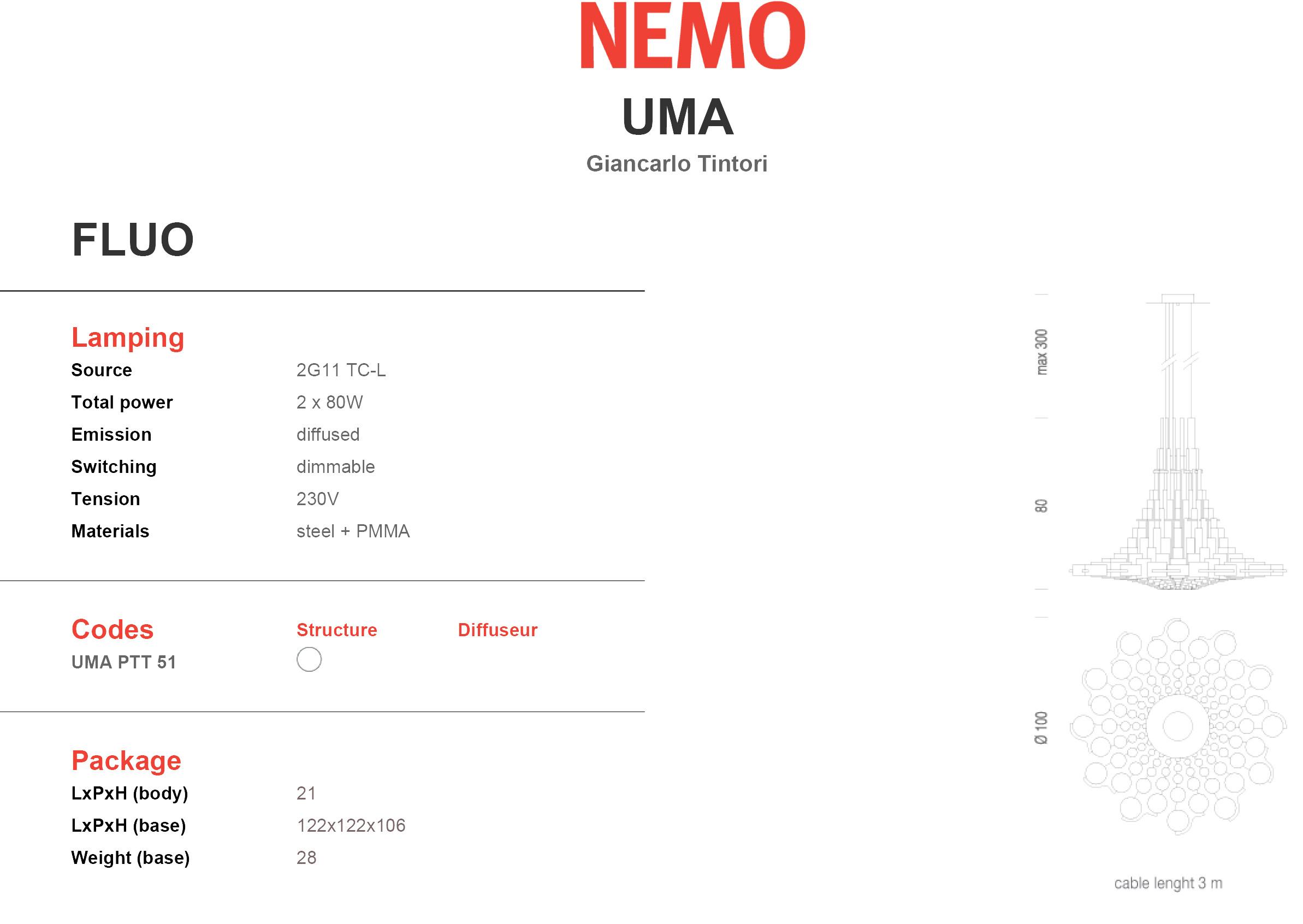 Nemo lighting uma grote hanglamp design verlichting xxl - Nemo verlichting ...