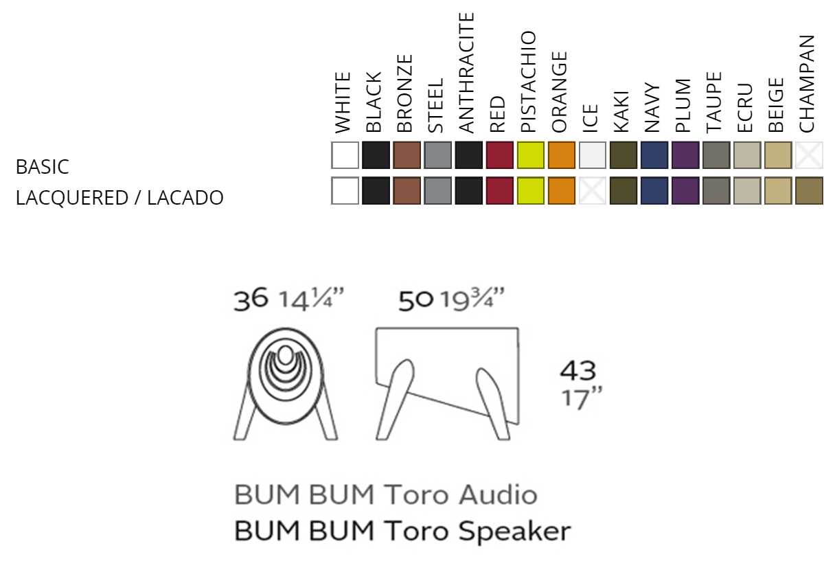 Vondom Bum Bum Toro Audio