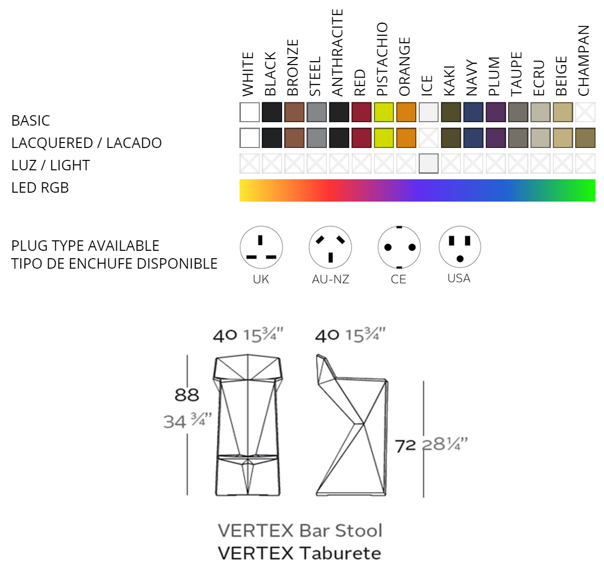 Vondom Vertex Bar Stool