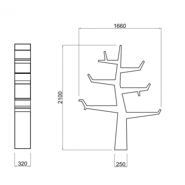 21st twentyfirst wintertree etag re xxl en forme d 39 arbre design. Black Bedroom Furniture Sets. Home Design Ideas